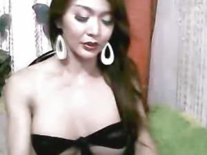 Beautiful Asian Tranny Unloads her Cum