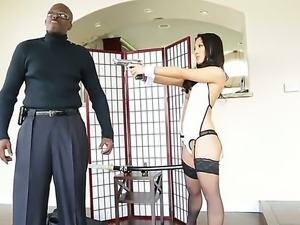 Amazing interracial scene with pornstars named Asa Akira and Lexington Steele