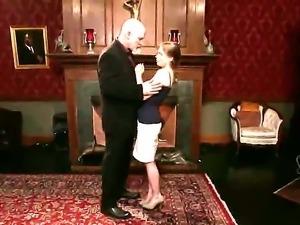 Sasha Swift sucking her new Russian rich husbands, Mark Woods huge dick