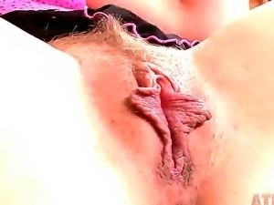 Alyssa Branch warms up her pussy with a vibrator and gets fucked by powerful...