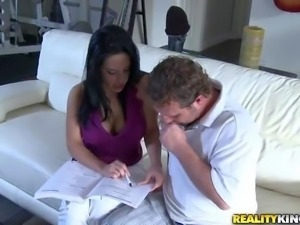 Brinda is a black haired sexy milf with big juicy