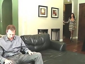 Amazing milf Veronica Avluv is being hardly fucked in the ass by the big guy...
