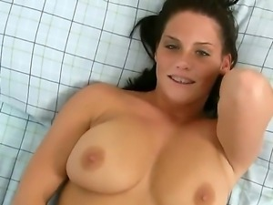 Sensual with natural tits Whitney enjoys amazing solo along her favorite huge...