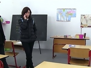 Welcome to the classroom with shameless dirty school lesbian girl Klara C