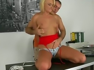 Really naughty blonde Ivana Sugar can not let James Brossmans without hot...