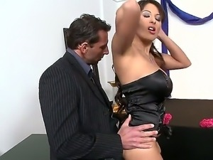 Supoerb Allison Star pleases hunk Nick Lang with amazing hardcore fuck
