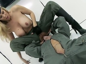 The hungry soldier Johnny Sins returns from the war and he is ready to fuck...