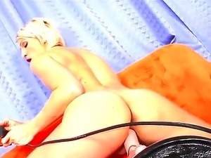 Do you want to watch fascinating action with beautiful bitch having fun with...