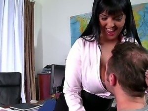 Crazy hot and naughty teacher Jasmine Black frolics with young student in the...