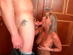 Enjoy beautiful busty blonde slut Christina Lee fooling around with awesome...