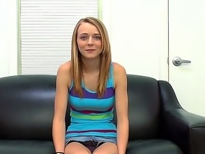 High schoolgirl Ava Hardy came to show us her skinny and fresh body during...