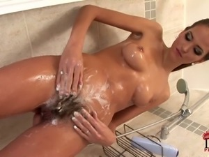 Silvie Delux is a sexy dark haired babe with long