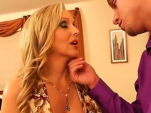 Julia Ann prefers to bang with her boyfriends son, because his dick is big...