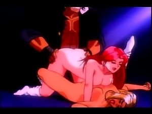 Horny Lesbian girls sharing cock
