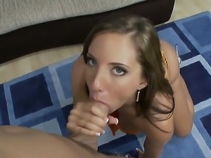 The hungry and pretty babe Kelly Divine makes a deep blowjob to Talon and...