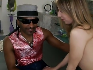 Fair skinned sexdoll Chastity Lynn feels a huge black dick on her gentle tongue