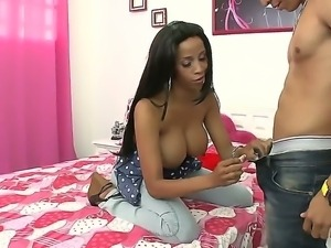 Busty brunette Carla amazes with her superb body and amazing skills for hard...