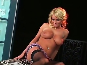 Extremely hot Hanna Hilton poses in sex lingerie and invites you in her pussy!