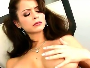 Marvelous dark haired princess Emily Addison is having a good old masturbation