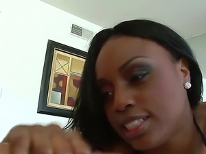 Hot chocolate horny chick Jada Fire being hard fucked in her mouth by her big...