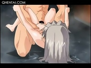Naked hentai girl jumping horny cock and hitting hard balls