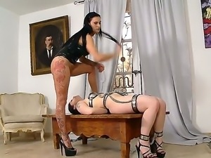 Isla along Lucia Love are having a wonderful hot femdom session wich makes...