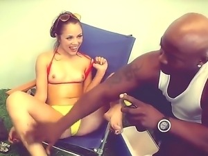 Kristina Rose gets seduced by black hunk Nat Turnher into deep fucking her pussy