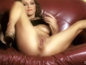 Celeste Star is a brown haired glam babe. She shows