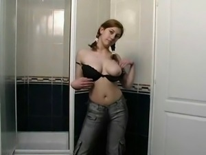 Busty Teen Squirting in Shower by TROC