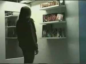 teen dressing up in lingerie in dressing room