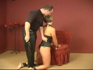 Spanking and flogging a gorgeous blondes ass