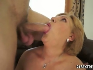 Blonde caitlin gets an injection of young meat