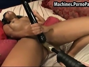 Black girl fucked by machines