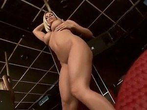 Go-go girlfriend named Wivien shows her trimmed pussy and masturbates