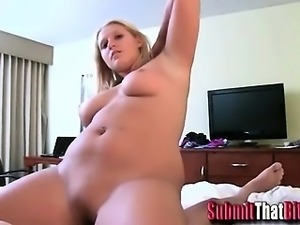 Curvy Blonde Exgf Fucking on Home Video