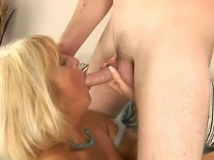 Big boobed blonde mature sex