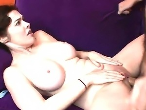Sexy gorgeous babe enjoys giving steamy blowjob before her gaping cunt is...