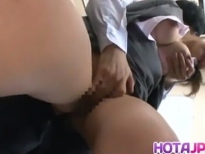 Hot japanese babe gets banged in the subway