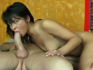 Teen enjoys a rough anal fuck