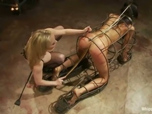 Hot bodied brunette Lyla Storm is a slave girl of