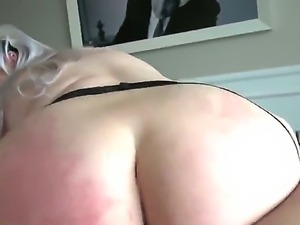 Full figured lusty blonde Klaudia Kelly with arousing heavy make up and...