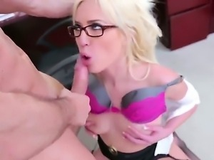John Strong is spending unforgettable time with sinful blonde mature hottie...