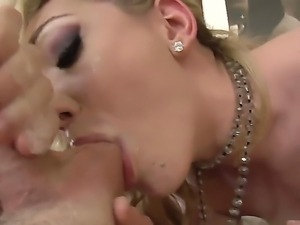 Gorgeous naughty vixen Lily gets a deepthroat from a massive long pulstating...