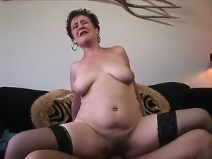 Scarlett O Ryan loves to ride a long, thick cock while her soft tits are fondled