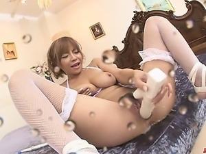 Big Titted Sumire Matsu Squirts From Masturbating