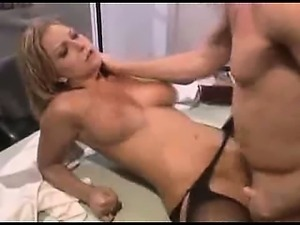 Blonde nurse fucking her pussy