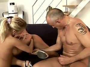 Hardcore threesome fisting scene with a passionate girlfriend Shanis and her...
