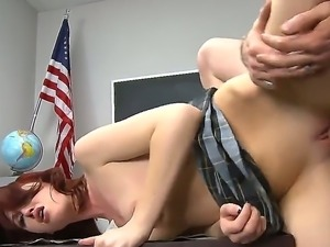 Hot bitch Alana Rains spreads her sexy legs and fucks like a crazy whore