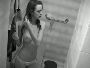 Mikena taking shower.