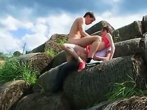 subtle double fuck outside with teen